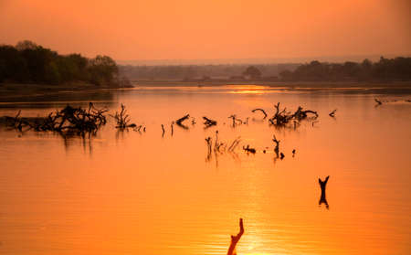 south african: View of the river in dusk Stock Photo