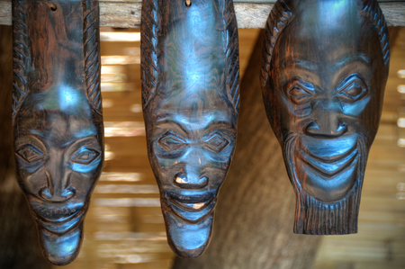 Close up of artcrafts in Africa photo