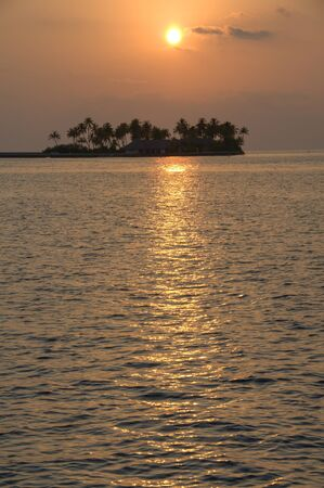 Sunset in Maldive Islands photo