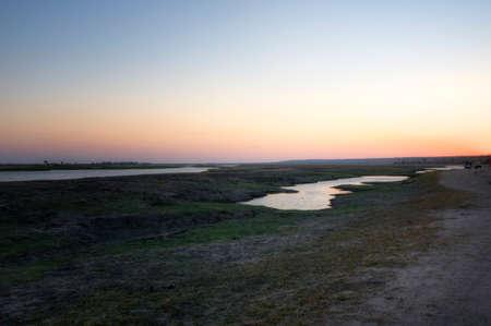 chobe national park: Sunset in Chobe National Park, Botswana, Africa