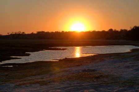 chobe: Sunset in Chobe National Park, Botswana, Africa