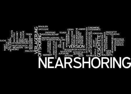 offshoring: Word cloud of nearshoring in German language