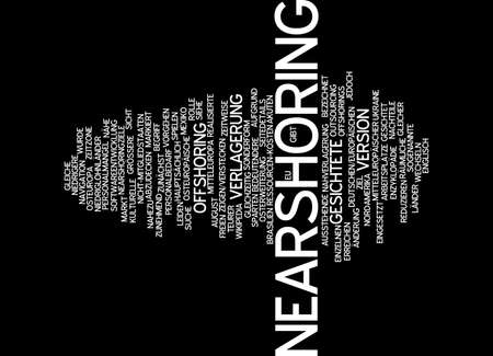 offshoring: Word cloud of nearshoring in German language