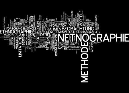 limitation: Word cloud of netnography in German language Stock Photo