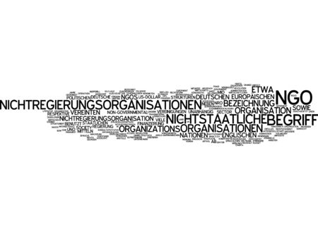 competent: Word cloud of non-governmental organizations in German language