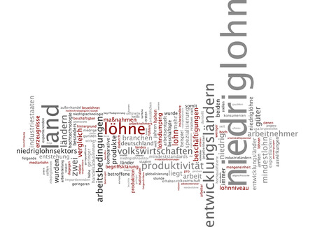 specialization: Word cloud of low-wage in German language