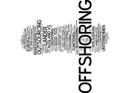 offshoring: Word cloud of offshoring in German language