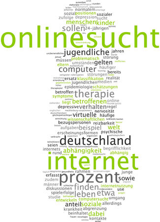 demarcation: Word cloud of online searches in German language Stock Photo