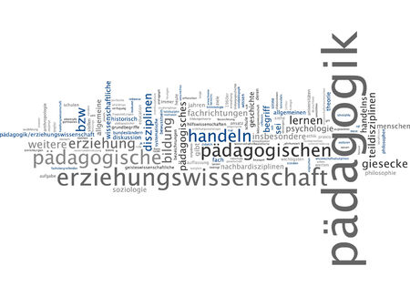 epistemological: Word cloud of education in German language Stock Photo