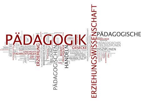 epistemological: Word cloud of education in German language Stock Photo
