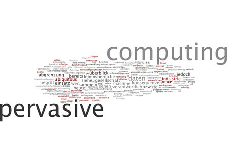 Word cloud of pervasive computing in German language