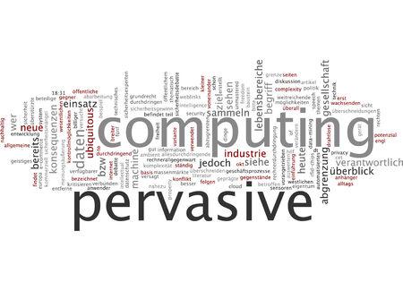 demarcation: Word cloud of pervasive computing in German language