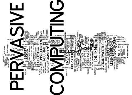 Word cloud of pervasive computing in German language