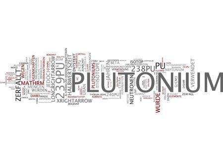 plutonium: Word cloud of plutonium in German language Stock Photo