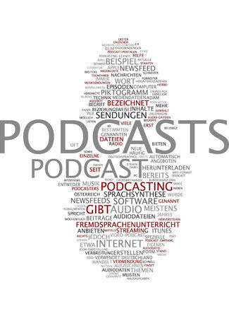 Word cloud of podcasts in German language photo
