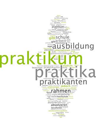 remuneraci�n: Nube de palabras de pasant�as en lengua alemana