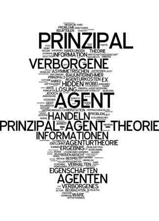 conflict theory: Word cloud of principal in German language