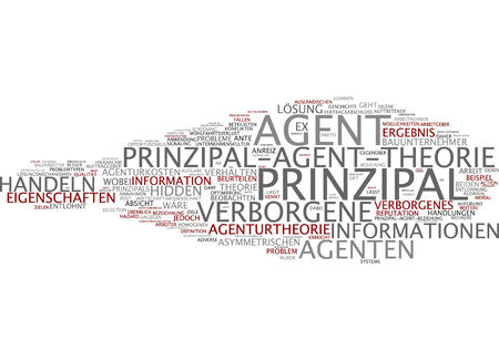 Word cloud of principal in German language