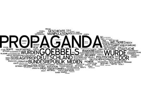 Nuage de mots de la propagande en langue allemande