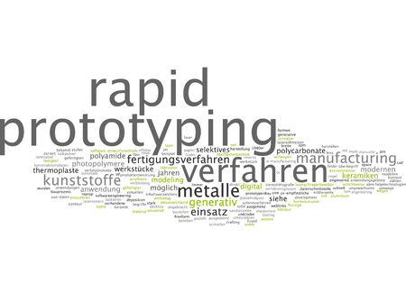 generative: Word cloud of prototyping in German language