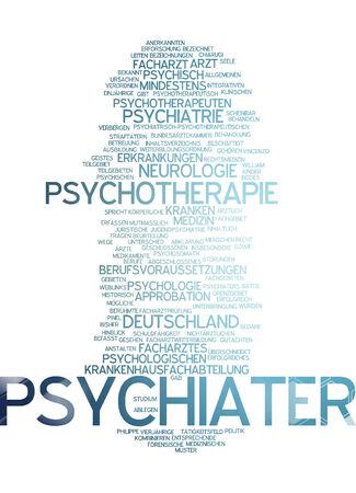 psychologically: Word cloud of propaganda in German language Stock Photo
