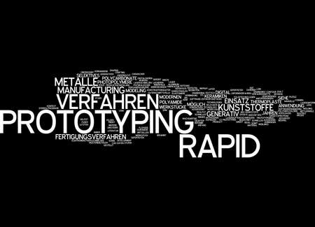 prototyping: Word cloud of prototyping in German language