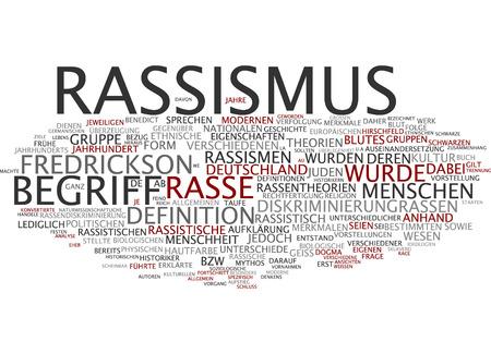 racismo: Nube de palabras del racismo en lengua alemana