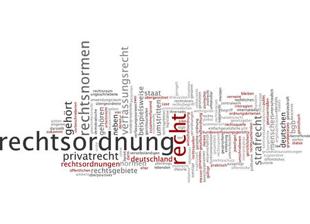 constitutional law: Word cloud of law in German language
