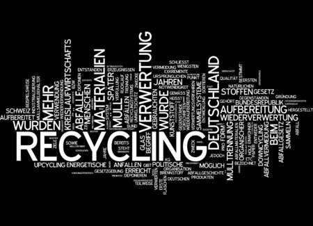 seperation: Word cloud of recycling in German language Stock Photo