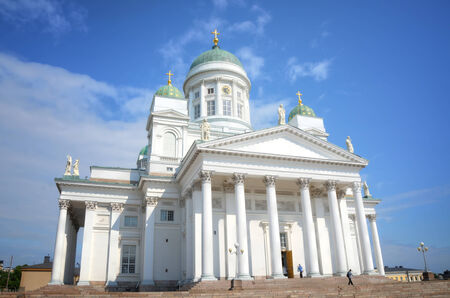 finland: Facade of the Helsinki Cathedral in Helsinki, Finland Stock Photo