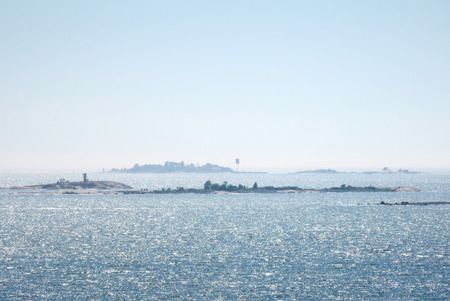 baltic sea: Panorama of Baltic Sea from Suomenlinna, Helsinki, Finland
