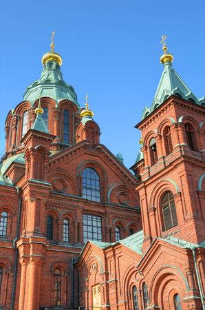 helsinki: Exterior of the Uspenski Cathedral in Helsinki, Finland