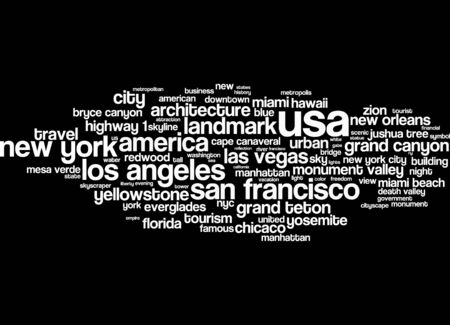 death valley: Word cloud - USA