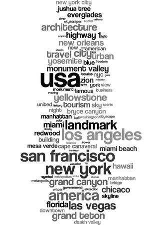 Word cloud - USA photo