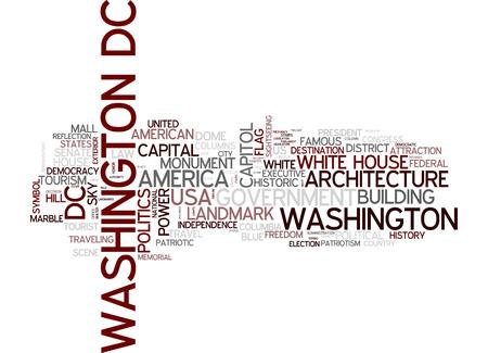washington dc: Word cloud - Washington D.C. Stock Photo