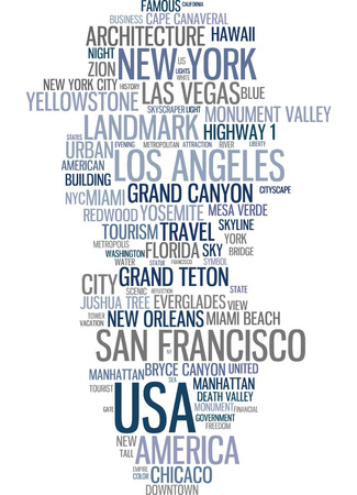word clouds: Word cloud - USA