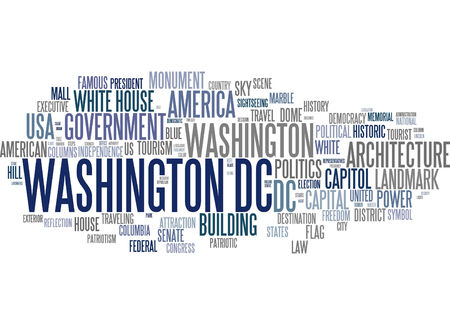 dc: Word cloud - Washington D.C. Stock Photo