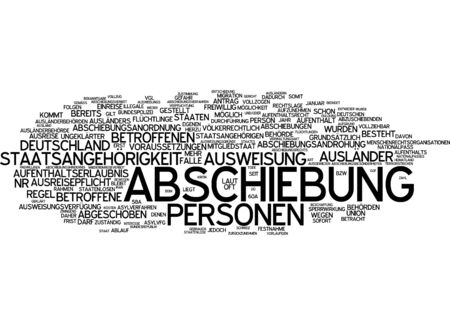 citizenship: Word cloud - deportation and nationality