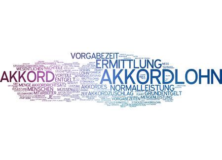 work piece: Word cloud - piece work Stock Photo