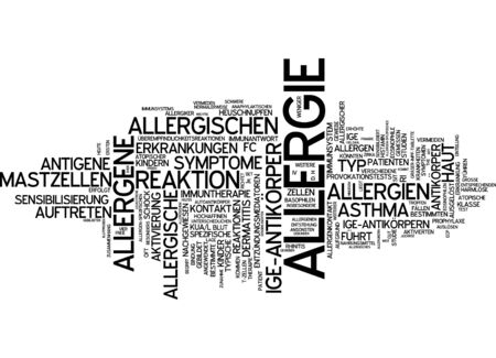 allergic reactions: Word cloud - allergy