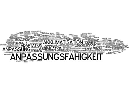 acclimatization: Word cloud - adaptability
