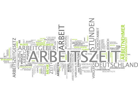 Word cloud - working time
