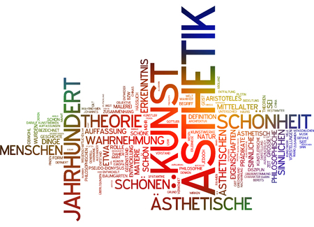 Word cloud - aesthetics and art