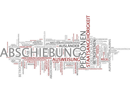 foreigner: Word cloud - deportation and nationality