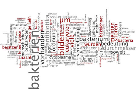 spore: Word cloud - bacterium Stock Photo