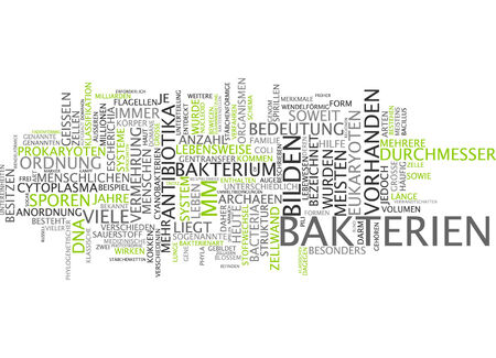 Word cloud - bacterium Stock Photo