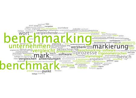 benchmarking: Word cloud - benchmarking