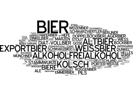 bock: Word cloud - beer