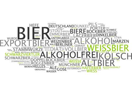 bier: Word cloud - beer