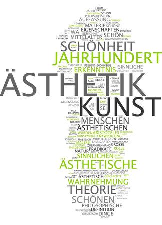 cognicion: Nube de la palabra - la est�tica y el arte